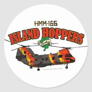 Island Hoppers Simple Design Round Sticker