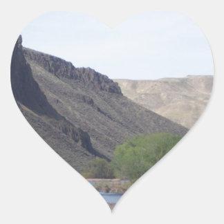 Island in the Stream Heart Sticker