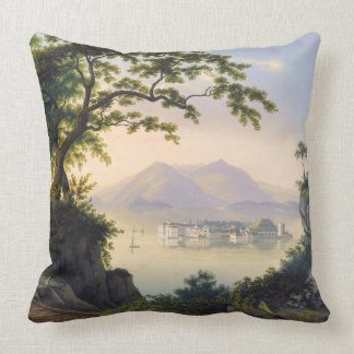 Island Italy Ocean Isola Bella Sea Throw Pillow