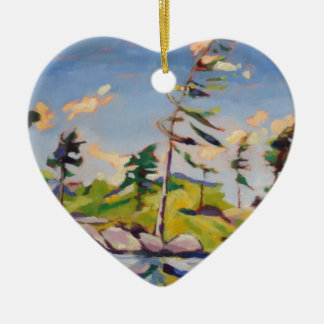 Island Landscape Painting Christmas Ornament
