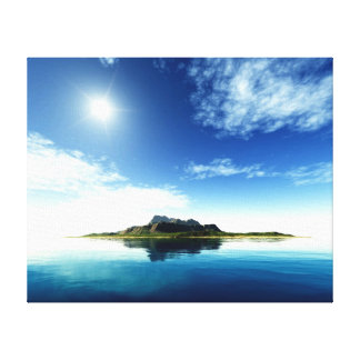 Island Landscape Wall Canvas Stretched Canvas Prints