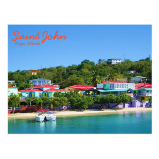 Island Life on Saint John Postcard
