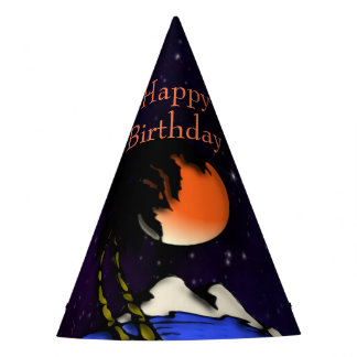 Island Night Design Birthday Party Hat