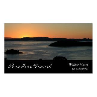 Island Ocean Sunset, Travel Business Card