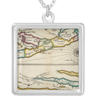 Island of Bermuda, Part of Providence Island Silver Plated Necklace