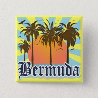 Island of Bermuda Souvenirs 15 Cm Square Badge