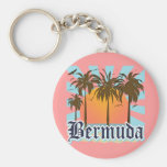 Island of Bermuda Souvenirs Basic Round Button Key Ring