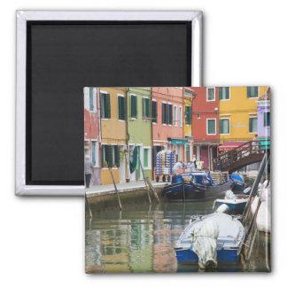 Island of Burano, Burano, Italy. Colorful 2 Magnet