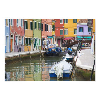 Island of Burano, Burano, Italy. Colorful 2 Photo Print