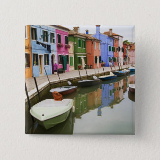 Island of Burano, Burano, Italy. Colorful 4 15 Cm Square Badge