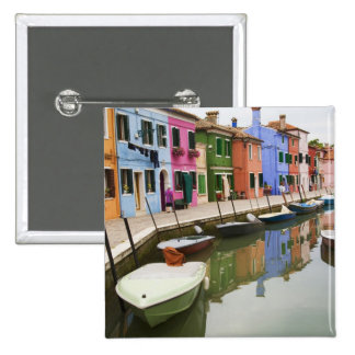 Island of Burano, Burano, Italy. Colorful 4 15 Cm Square Badge