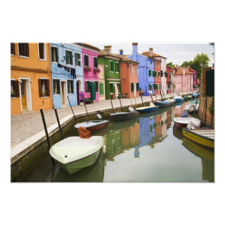 Island of Burano, Burano, Italy. Colorful 4 Photo Print
