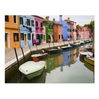 Island of Burano, Burano, Italy. Colorful 4 Postcard