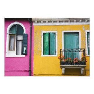 Island of Burano, Burano, Italy. Colorful 5 Photo Print