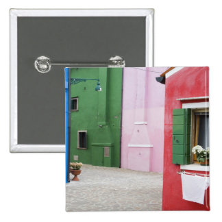 Island of Burano, Burano, Italy. Colorful Burano 2 15 Cm Square Badge