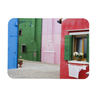 Island of Burano, Burano, Italy. Colorful Burano 2 Magnet