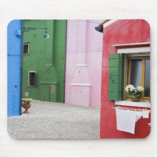 Island of Burano, Burano, Italy. Colorful Burano 2 Mouse Mat