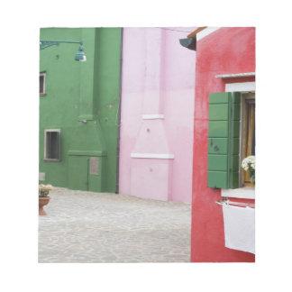 Island of Burano, Burano, Italy. Colorful Burano 2 Notepad