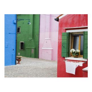 Island of Burano, Burano, Italy. Colorful Burano 2 Postcard