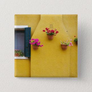 Island of Burano, Burano, Italy. Colorful Burano 3 15 Cm Square Badge