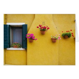 Island of Burano, Burano, Italy. Colorful Burano 3 Card