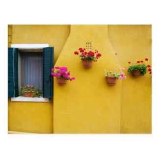 Island of Burano, Burano, Italy. Colorful Burano 3 Postcard