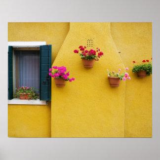 Island of Burano, Burano, Italy. Colorful Burano 3 Poster