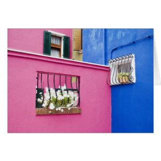 Island of Burano, Burano, Italy. Colorful Burano Card