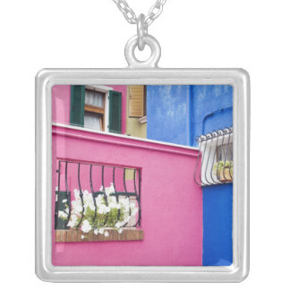 Island of Burano, Burano, Italy. Colorful Burano Silver Plated Necklace