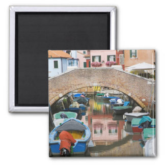 Island of Burano, Burano, Italy. Colorful Magnet