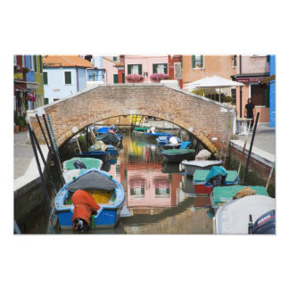 Island of Burano, Burano, Italy. Colorful Photo Print