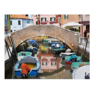 Island of Burano, Burano, Italy. Colorful Postcard