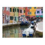 Island of Burano, Burano, Italy. Colourful 2 Postcard