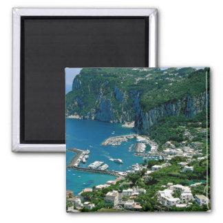 Island of Capri, Italy Square Magnet