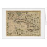 Island of Cuba Map - 1762 Greeting Card