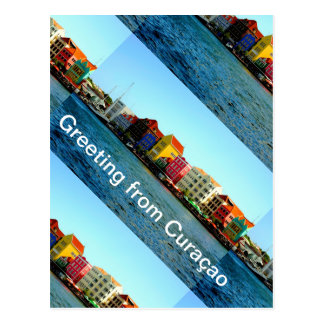 Island of Curacao Design by Admiro Postcard