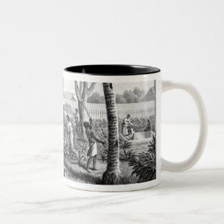 Island of Guam: Natives at Work in the Garden of t Two-Tone Coffee Mug