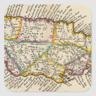 Island of Jamaica Square Sticker