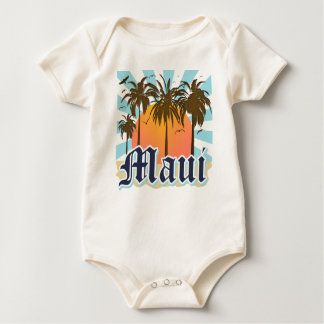 Island of Maui Hawaii Souvenir Baby Bodysuit