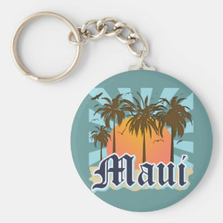 Island of Maui Hawaii Souvenir Basic Round Button Key Ring