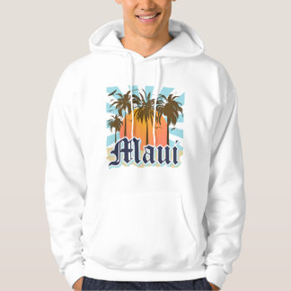 Island of Maui Hawaii Souvenir Hooded Sweatshirt