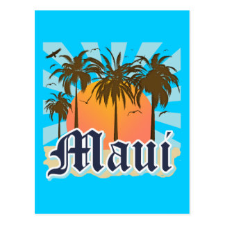 Island of Maui Hawaii Souvenir Postcard