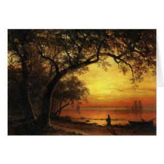 Island Of New Providence By Albert Bierstadt Greeting Card