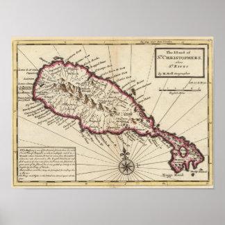 Island of St Christophers Print