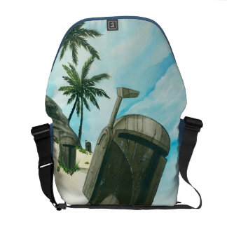 """Island of the Fett Moai"" Courier Bag"