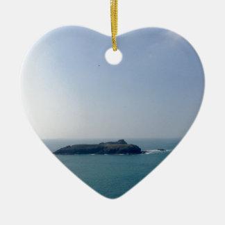 Island off the Cornish coast Christmas Ornament