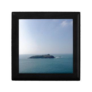 Island off the Cornish coast Small Square Gift Box