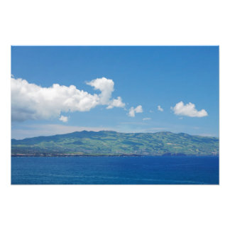 Island on the horizon photographic print