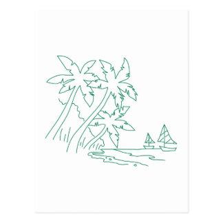 Island Outline Postcard