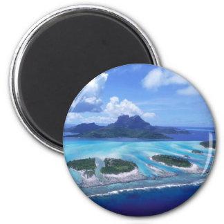 Island paradise 6 cm round magnet
